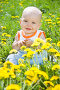 Счастливый малыш в одуванчиках, фото № 2640151, снято 29 мая 2011 г. (c) Типляшина Евгения / Фотобанк Лори