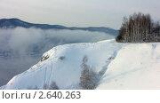 Зимний пейзаж. Туман. Деревья в снегу. Стоковое видео, видеограф Юрий Пономарёв / Фотобанк Лори