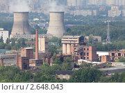 Купить «ТЭЦ 21. Москва.», фото № 2648043, снято 8 июля 2011 г. (c) Михаил Иванов / Фотобанк Лори