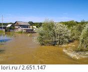 Наводнение в деревне. Стоковое фото, фотограф Олег Рубик / Фотобанк Лори