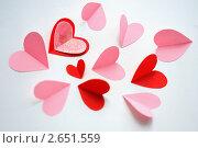 Сердечки ко Дню святого Валентина. Стоковое фото, фотограф Екатерина Балашова / Фотобанк Лори