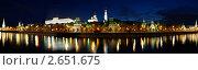 Панорама Московского Кремля ночью, фото № 2651675, снято 8 июня 2011 г. (c) Угоренков Александр / Фотобанк Лори