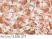 Купить «Фон из пятитысячных купюр», фото № 2656371, снято 30 июня 2011 г. (c) Кекяляйнен Андрей / Фотобанк Лори
