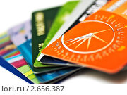 Купить «Кредитные карты», фото № 2656387, снято 9 января 2011 г. (c) Константин Тавров / Фотобанк Лори