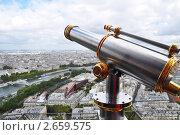 Париж. Вид с Эйфелевой башни (2010 год). Стоковое фото, фотограф Анжелика Сеннова / Фотобанк Лори