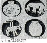 Купить «Фрагмент памятника на месте раскопок Майкопского кургана», фото № 2659747, снято 14 июля 2011 г. (c) LenaLeonovich / Фотобанк Лори