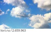 Купить «Облака на фоне синего неба. Таймлапс.», видеоролик № 2659963, снято 11 июня 2010 г. (c) Арсений Герасименко / Фотобанк Лори