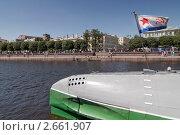 Корабельный кормовой флаг ВМФ СССР на подводной лодке, эксклюзивное фото № 2661907, снято 3 июля 2011 г. (c) Александр Алексеев / Фотобанк Лори