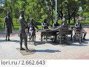 Купить «Скульптурная группа «Зодчие». Санкт-Петербург. Скульптор Александр Таратынов», фото № 2662643, снято 3 июля 2011 г. (c) Игорь Долгов / Фотобанк Лори