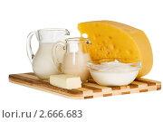 Купить «Молочные продукты», фото № 2666683, снято 19 марта 2019 г. (c) Дмитрий Калиновский / Фотобанк Лори