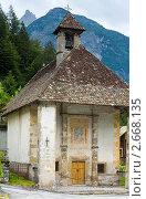Купить «Старая часовня, Auronzo-ди-Кадоре, построена в 1554 (Доломитовые Альпы, Италия)», фото № 2668135, снято 7 июня 2011 г. (c) Юрий Брыкайло / Фотобанк Лори