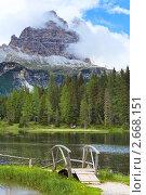 Купить «Альпийское озеро Лаго-ди-Анторно в Италии», фото № 2668151, снято 8 июня 2011 г. (c) Юрий Брыкайло / Фотобанк Лори