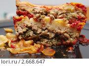 Купить «Лазанья с мясом и шпинатом», фото № 2668647, снято 1 февраля 2011 г. (c) Ann Perova / Фотобанк Лори