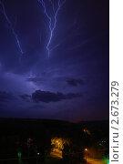 Ночная гроза. Стоковое фото, фотограф herndlhoffer / Фотобанк Лори
