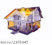 Рентгеновский снимок дома, иллюстрация № 2673647 (c) Геннадий Соловьев / Фотобанк Лори