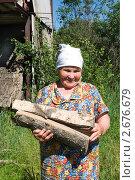 Купить «Бабушка с дровами», фото № 2676679, снято 30 июня 2011 г. (c) Светлана Кузнецова / Фотобанк Лори