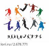 Купить «Баскетболисты с мячом», иллюстрация № 2678771 (c) Эдуард Бежанов / Фотобанк Лори