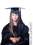 Купить «Девочка в костюме бакалавра», фото № 2679271, снято 5 июля 2011 г. (c) Irina Danilova / Фотобанк Лори
