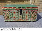 Купить «Казахский национальный сундук для одежды», эксклюзивное фото № 2682323, снято 21 марта 2011 г. (c) Blekcat / Фотобанк Лори