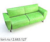 Зеленый диван. Стоковая иллюстрация, иллюстратор Дмитрий Зубарчук / Фотобанк Лори