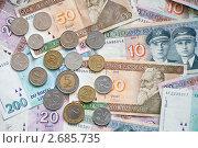 Деньги Литвы - купюры и монеты, эксклюзивное фото № 2685735, снято 29 июня 2011 г. (c) Константин Косов / Фотобанк Лори