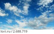 Купить «Плывущие облака. Таймлапс», видеоролик № 2688719, снято 6 июля 2010 г. (c) Алексас Кведорас / Фотобанк Лори