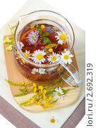 Купить «Ромашковый чай», фото № 2692319, снято 22 июля 2011 г. (c) Ольга Красавина / Фотобанк Лори