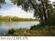 Берег лесного озера. Стоковое фото, фотограф Борис Панасюк / Фотобанк Лори