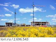 Строительство монолитного жилого дома в Минске (2011 год). Стоковое фото, фотограф herndlhoffer / Фотобанк Лори