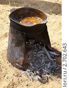 Приготовление еды в пустыне. Стоковое фото, фотограф Наталья Громова / Фотобанк Лори