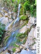 Купить «Сочи, водопад Шапсуг», фото № 2708463, снято 7 августа 2011 г. (c) Анна Мартынова / Фотобанк Лори