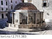 Большой фонтан Онофрио, Дубровник, Хорватия (2011 год). Стоковое фото, фотограф Pshenichka / Фотобанк Лори