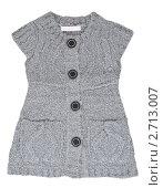 Купить «Серый трикотажный жилет», фото № 2713007, снято 22 июля 2011 г. (c) Руслан Кудрин / Фотобанк Лори
