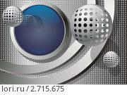 Абстрактный декоративный фон на тему космических технологий. Стоковая иллюстрация, иллюстратор Любовь Веселова / Фотобанк Лори
