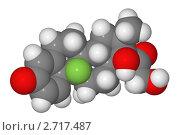 Купить «Полусферическая (объемная) модель молекулы дексаметазона», иллюстрация № 2717487 (c) Владимир Федорчук / Фотобанк Лори