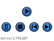 Кнопки для плеера. Стоковая иллюстрация, иллюстратор Лысая Юлия / Фотобанк Лори