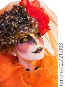 Купить «Женщина мим с театральным гримом», фото № 2721003, снято 25 апреля 2019 г. (c) Маргарита Бородина / Фотобанк Лори