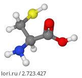 Купить «Шаростержневая модель молекулы цистеина», иллюстрация № 2723427 (c) Владимир Федорчук / Фотобанк Лори