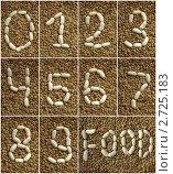 Цифры выложены фасолью на чечевице. Стоковое фото, фотограф Мария Исаченко / Фотобанк Лори