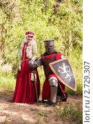 Купить «Рыцарь в доспехах с возлюбленной», фото № 2729307, снято 5 июня 2010 г. (c) Яков Филимонов / Фотобанк Лори