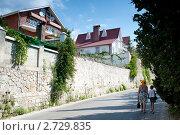 Коттеджный поселок в Ялте. Крым (2011 год). Стоковое фото, фотограф Владимир Цветов / Фотобанк Лори