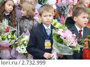 Купить «Грустный первоклассник», фото № 2732999, снято 1 сентября 2010 г. (c) Оксана Лычева / Фотобанк Лори