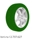 Купить «Автомобильное колесо из травы белом фоне», иллюстрация № 2737627 (c) Ильин Сергей / Фотобанк Лори