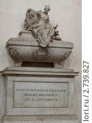 Гробница Никколо Макиавелли (2011 год). Стоковое фото, фотограф Сергей Алямовский / Фотобанк Лори