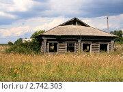 Заброшенный деревенский дом в поле (2011 год). Стоковое фото, фотограф Павел Красихин / Фотобанк Лори