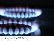 Две конфорки газовой плиты крупным планом. Стоковое фото, фотограф Самохвалов Артем / Фотобанк Лори