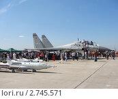Многофункциональный истребитель-бомбардировщик Су-30MK (2011 год). Редакционное фото, фотограф Сизов Евгений / Фотобанк Лори