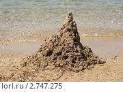 Купить «Песчаный замок на берегу моря», эксклюзивное фото № 2747275, снято 11 августа 2011 г. (c) Щеголева Ольга / Фотобанк Лори