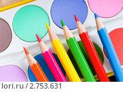 Купить «Набор красок и карандашей», фото № 2753631, снято 29 августа 2010 г. (c) Elnur / Фотобанк Лори