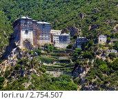 Купить «Монастырь Симонопетра, Афон, Греция», фото № 2754507, снято 5 июня 2009 г. (c) Ростислав Агеев / Фотобанк Лори
